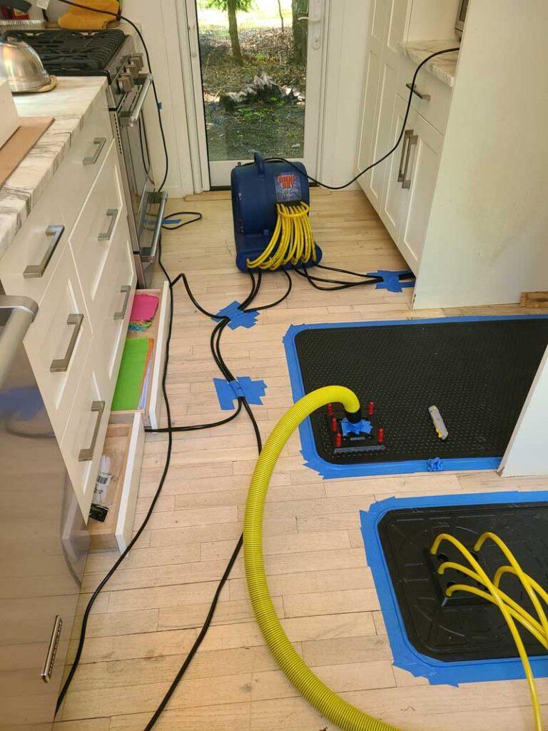 ITS Environmental Services Storm Damage Restoration Job