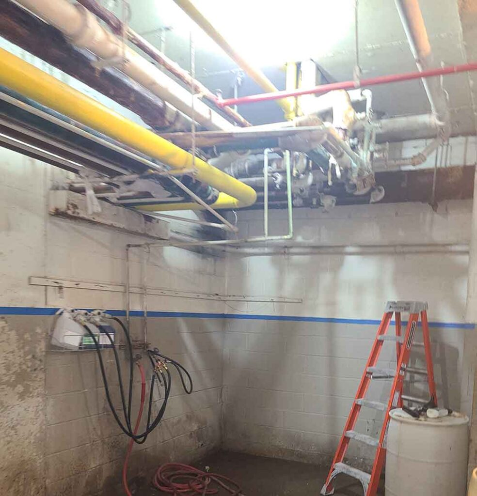 ITS Environmental Services Mold Remediation Job 8-2021 Before 1